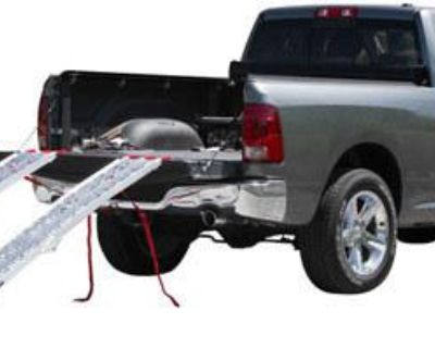 7.5' Arched Folding Atv Ramps-solid Surface+handles-lawn Mower-quad-afp-9012-2h