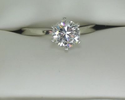 CERTIFIED .52CT SI CLARITY DIAMOND ENGAGEMENT RING