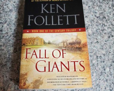 KEN FOLLETT, FALL OF GIANTS, EXCELLENT CONDITION, SMOKE FREE HOUSE