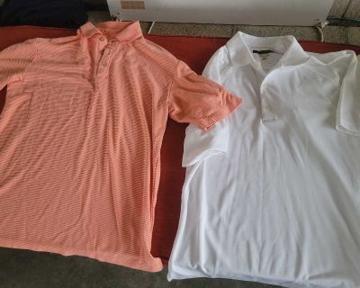 SIZE MEDIUM SHIRTS IN EXCELLENT CONDITION LOCATED IN WILDOMAR BUT WILLING TO MEET IN MENIFEE XPOST