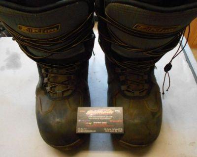 Klim Radium Gtx Boots Black/gray Size 10/eur 44.0 Gore-tex 104486 ***used***