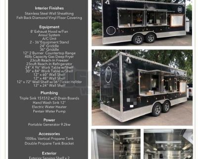 2019 - 20' Commercial Mobile Kitchen / Used Food Concession Trailer