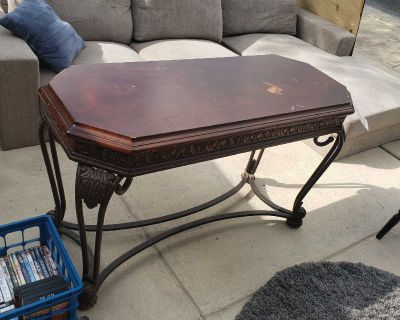 Sofa table and two end table