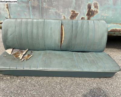 Original Como Green 61-62 Front Humpback Seat