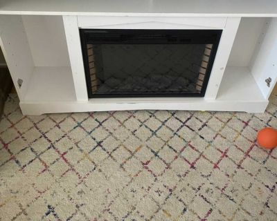 Free fireplace tv stand