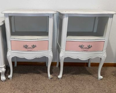 2 antique nightstands pottery barn style side table