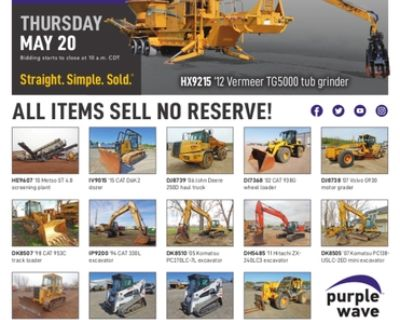 May 20 construction equipment auction