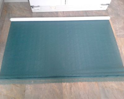 Green roller window blind, good condition