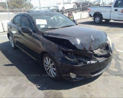 Salvage Black 2008 Lexus Is 250