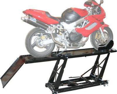 New Black Widow Hydraulic Motorcycle Lift Table Hoist-drop Panel-vise (bw-550-r)
