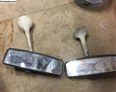 Day/night rearview mirrors