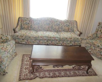 antique 5 pc Living Room Set Sofa couch coffee table