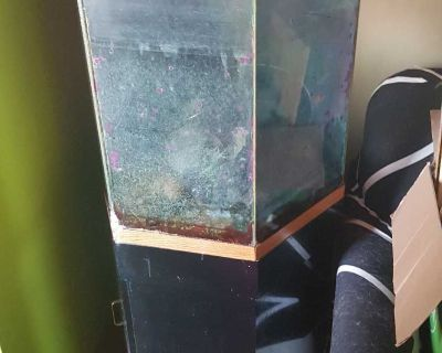 Project terrarium or octagon aquarium with stand. 30 gallon. Need gone soon. Great project