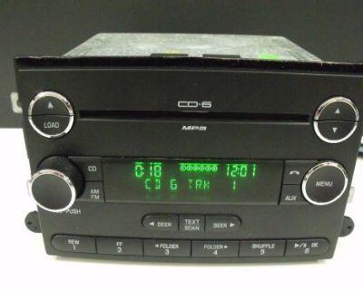 Taurus Sable Expedition Chrome 6 Disc Changer Radio Oem # 9e51-18c815-aa #1031