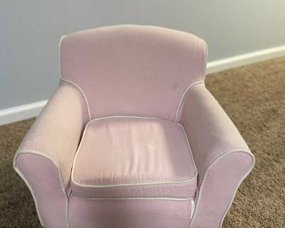 Pink toddler s chair.