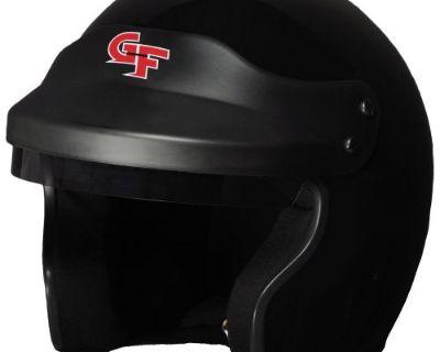 G-force 3121lrgbk Gf1 Race Helmet Open Face Large Black Sa2015