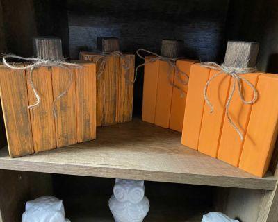 Handmade Wooden Pumpkins