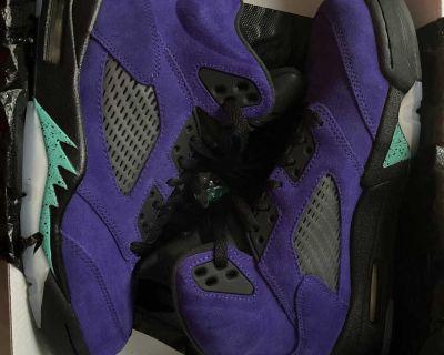 Jordan 5s alternate grape size 8