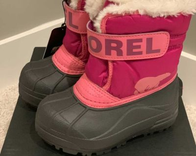 new toddler girls Sorel winter boots size 9