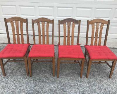 Antique Oak Chairs - set of 4