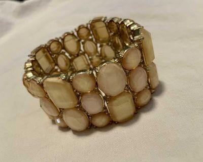 Blush pink and gold bracelet