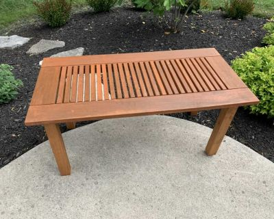 Solid wood outdoor coffee table