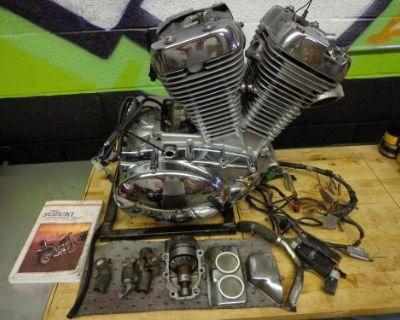 1993 Suzuki Vs 800 Gl Intruder Bobber Chopper Complete Engine Motor Vs800 95