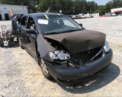 Salvage Black 2008 Toyota Corolla