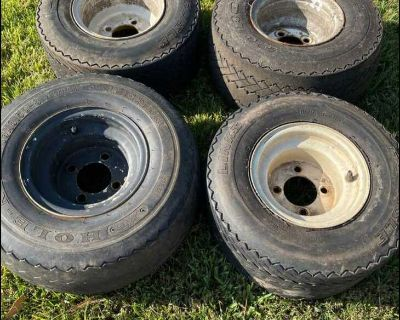 Golf cart tires and wheels 8 inch x4