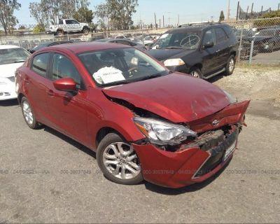 Salvage Burgundy 2017 Toyota Yaris Ia