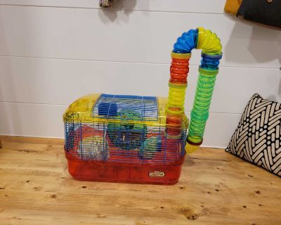 Hamster Cage, and Accessories