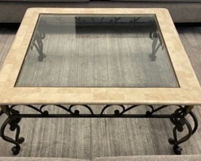 """Marble/glass coffee table  39""""x39"""" - Free"""