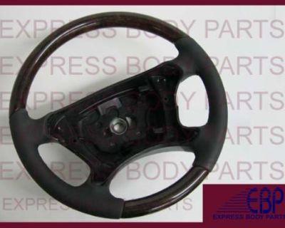 Mercedes Benz W211 2007 2008 2009 Steering Wheel Black Dark Burl Wood E350 E550