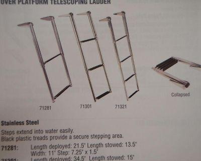 Ladder Telescoping Over Swim Platform 4 Step 5071321