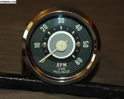 Repro 6 Volt Motometer Rallye Pack Tachometer Tach