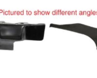 Air Deflector Plates, Black, Pair