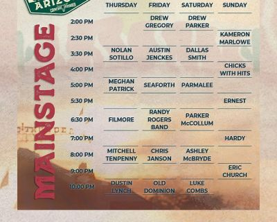 3 GA All 4 Day Admission Country Thunder