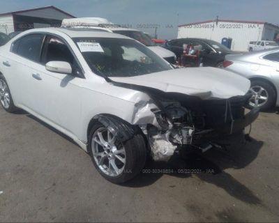 Salvage White 2012 Nissan Maxima