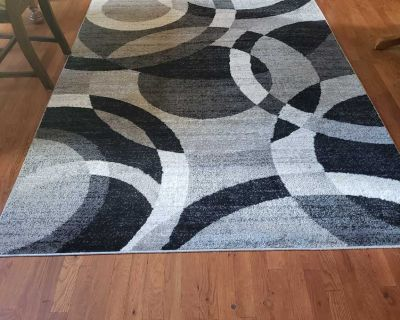 Rug and lamp