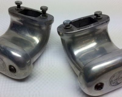 Pair Honest To Goodness Moon Polished Aluminum Valve Cover Crankcase Breathers