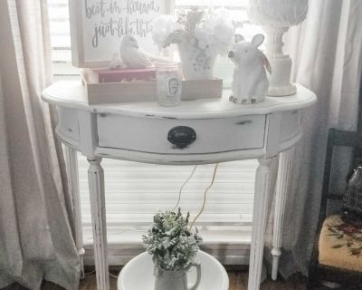 Shabby Chic nightstand or entryway table
