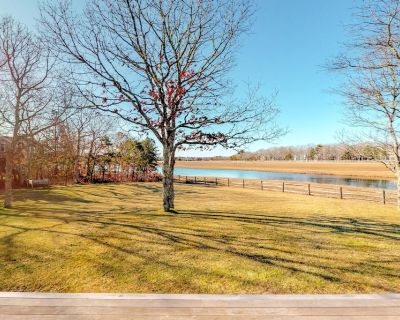 Extremely nice home w/ pond views, private gas grills, close to golf & the beach - West Tisbury