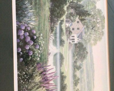 Beautiful country cottage print