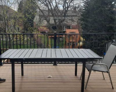 Brandnew Stylewell Black extendable patio table