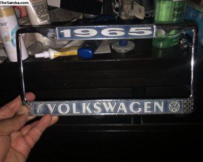 65 Volkswagen Bobble Head license plate Frame 1965