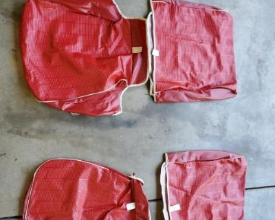 New Red seat upholstery