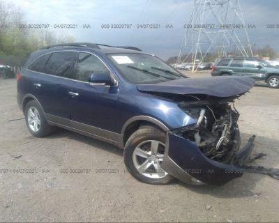 Salvage Blue 2008 Hyundai Veracruz