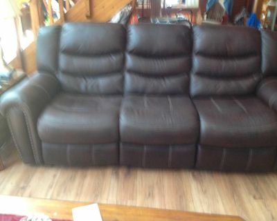 Brown 2 recliner rooms to go sofa