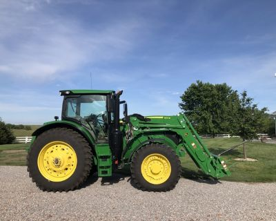 2018 JD 6155R Tractor with 640R Loader