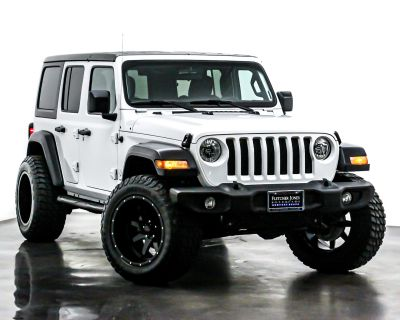 Pre-Owned 2018 Jeep Wrangler Unlimited Sport 4x4 Four Wheel Drive SUV